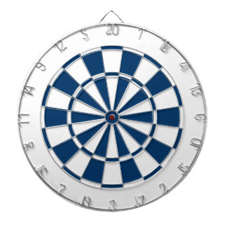 navy blue and white dartboard