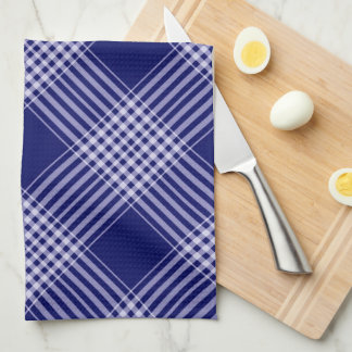 Navy Blue And White Plaid Kitchen Towels