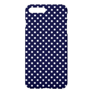 Navy Blue and White Polka Dots Pattern iPhone 7 Plus Case