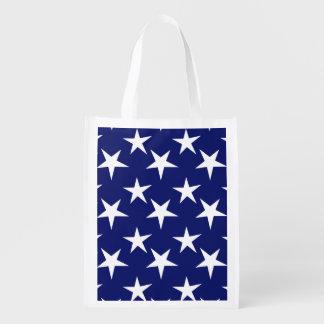 Navy Blue and White Stars; Patriotic