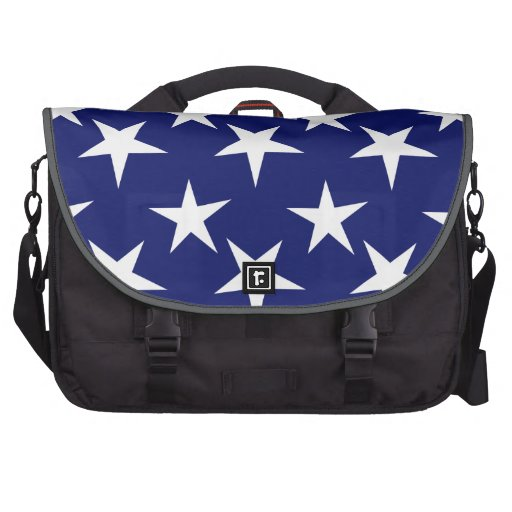 Navy Blue and White Stars; Patriotic Computer Bag