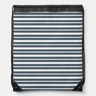 Navy Blue and White Stripes Rucksacks