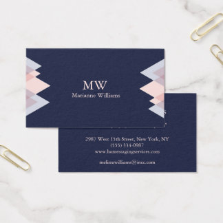 Navy Blue Arrow Women's Professional Business Business Card