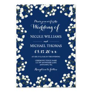 navy blue border wedding invitations zazzle co uk
