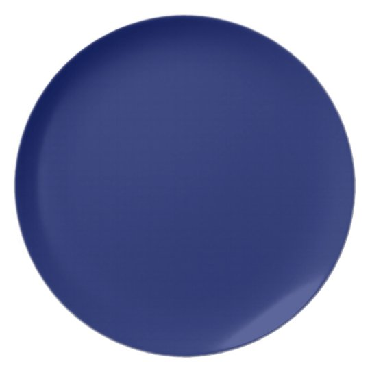 Navy Blue Background on a Plate