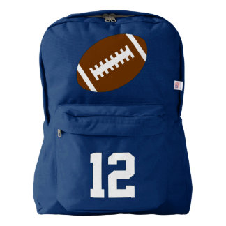 Navy Blue Backpack: Football Backpack
