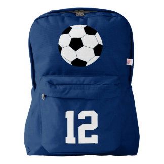 Navy Blue Backpack: Soccer Backpack