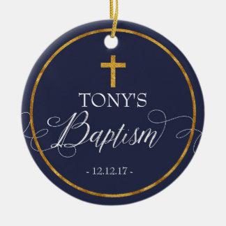 Navy Blue Baptism Ornament