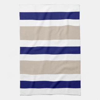 Navy Blue Beige & White Kitchen Towel Gift