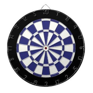 Navy Blue Black And White Dartboard