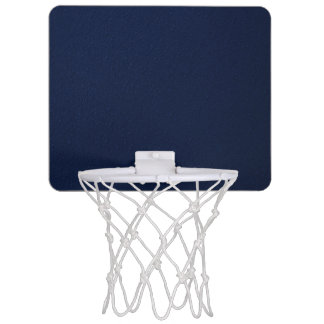 Navy Blue Bumpy Pattern Mini Basketball Hoop
