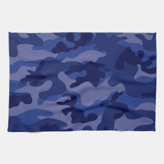 Navy Blue Camo, Camouflage Tea Towel