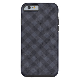 Navy Blue Checkered Flannel Tough iPhone 6 Case