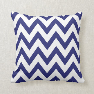 navy blue chevron cushion
