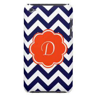 Navy Blue Chevron Monogram iPod Touch Case-Mate Case