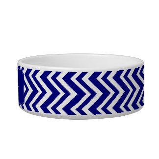 Navy Blue Chevron Pattern Bowl