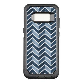 Navy Blue Chevron Pattern OtterBox Commuter Samsung Galaxy S8 Case