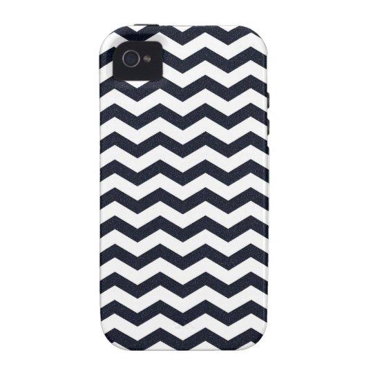 Navy blue chevron zig zag textured zigzag pattern iPhone 4 covers