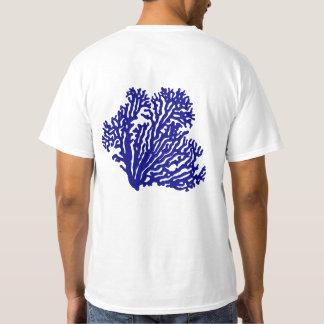 Navy Blue Coastal Coral T-Shirt