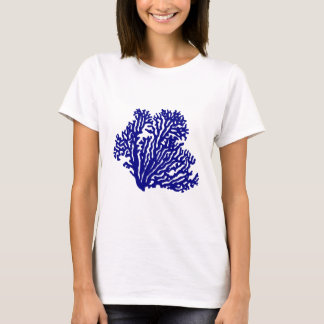 Navy Blue Coastal Coral T-Shirt