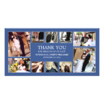 NAVY BLUE COLLAGE | WEDDING THANK YOU CARD PHOTO CARD