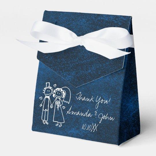 Navy Blue Couple Wedding Favor Thank You Favour