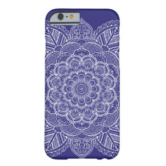 Navy Blue Custom Color Mandala Barely There iPhone 6 Case