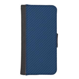 Navy Blue Diagonal Stripes, Striped Phone Wallet Cases