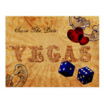 navy blue dice Vintage Vegas save the date