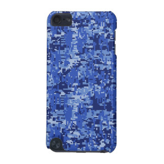 Navy Blue Digital Camo Camouflage Texture iPod Touch (5th Generation) Cases