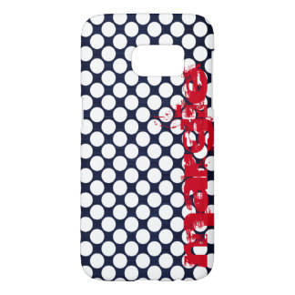 navy blue dots personalized by name