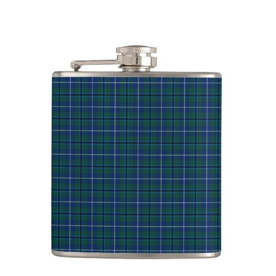 Navy Blue Douglas Clan Modern Scottish Plaid Hip