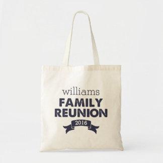 Navy Blue Family Reunion Budget Tote Bag