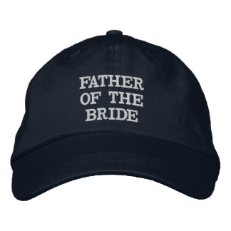 Navy Blue Father of the Bride Adjustable Hat Embroidered Hat
