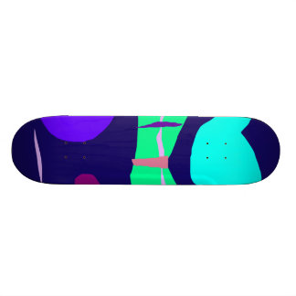 Navy Blue Fine Duration Distant Moon Loneliness Skateboard Deck