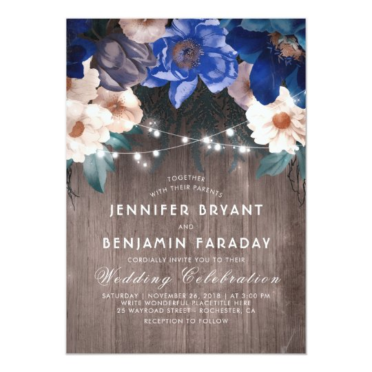 navy wedding invitations navy blue wedding invitations amp announcements zazzle co uk 6135