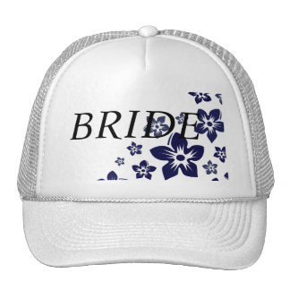 navy blue flowers hats