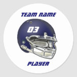 Navy Blue Football Helmet Sticker