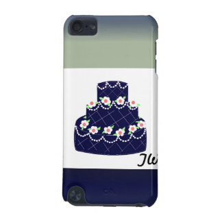 Navy Blue Frosted Wedding Cake iPod Touch (5th Generation) Cases