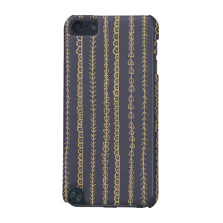 Navy Blue Fun Doodles Wedding iPod Touch 5G Cases