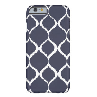 Navy Blue Geometric Ikat Tribal Print Pattern Barely There iPhone 6 Case