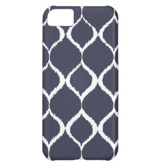 Navy Blue Geometric Ikat Tribal Print Pattern iPhone 5C Case
