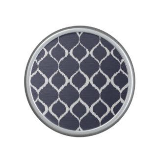 Navy Blue Geometric Ikat Tribal Print Pattern Speaker
