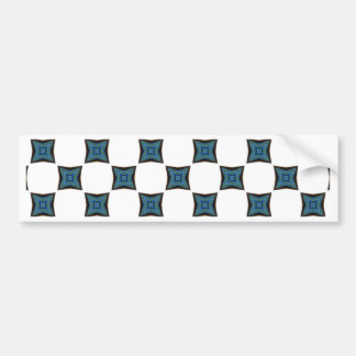 Navy Blue Geometric Pattern Bumper Stickers
