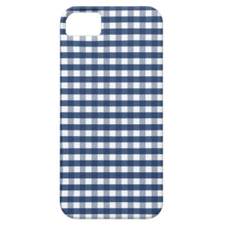 Navy Blue Gingham iPhone 5 Case