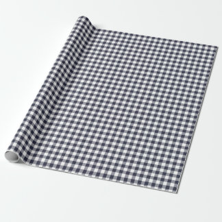 Navy Blue Gingham Wrapping Paper
