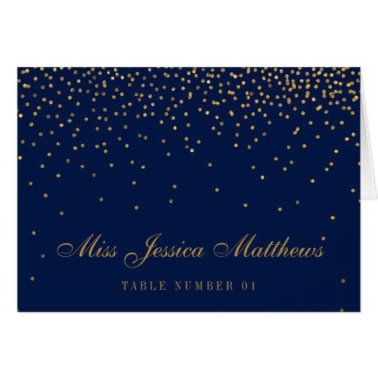 Navy Blue & Glam Gold Confetti Wedding Place