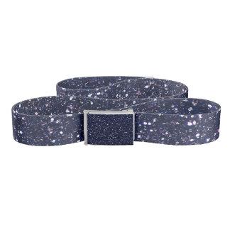 Navy blue glitter belt