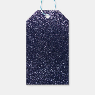 Navy blue glitter gift tags