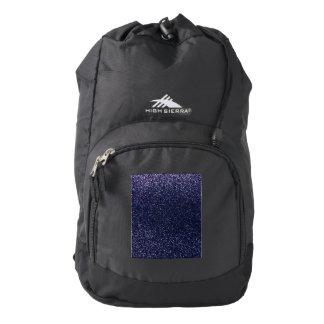 Navy blue glitter backpack